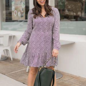LOFT long sleeve printed dress